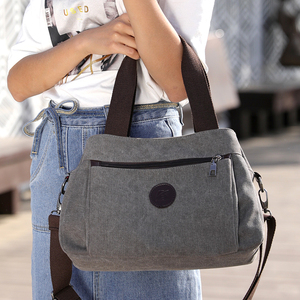 Image 5 - Çanta kadın çantası kanvas çanta kadınlar için 2019 büyük Tote bayan çanta bayan tasarımcı omuz askılı postacı çantaları kadın Crossbody çanta