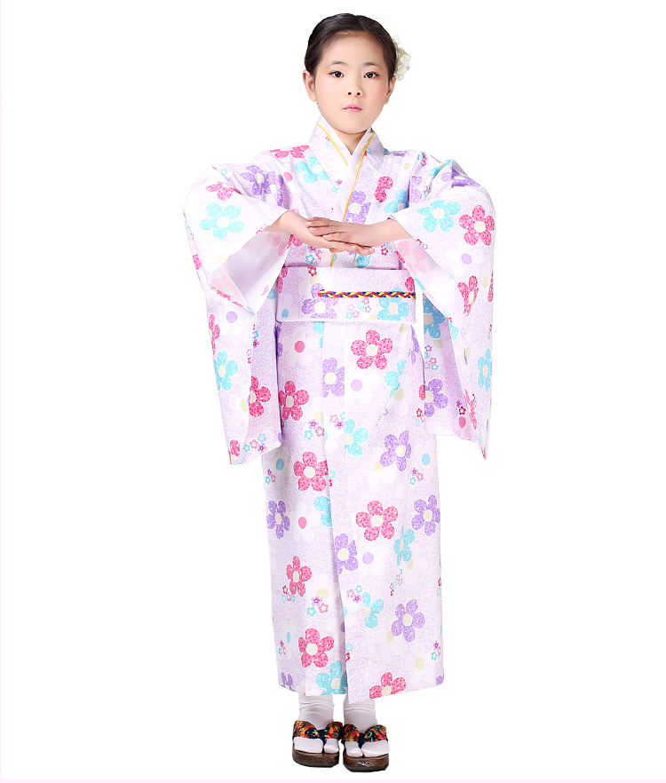 Japanese Dressing Gown: Japanese Style Baby Girls Kimono Dressing Gown Kid Cotton