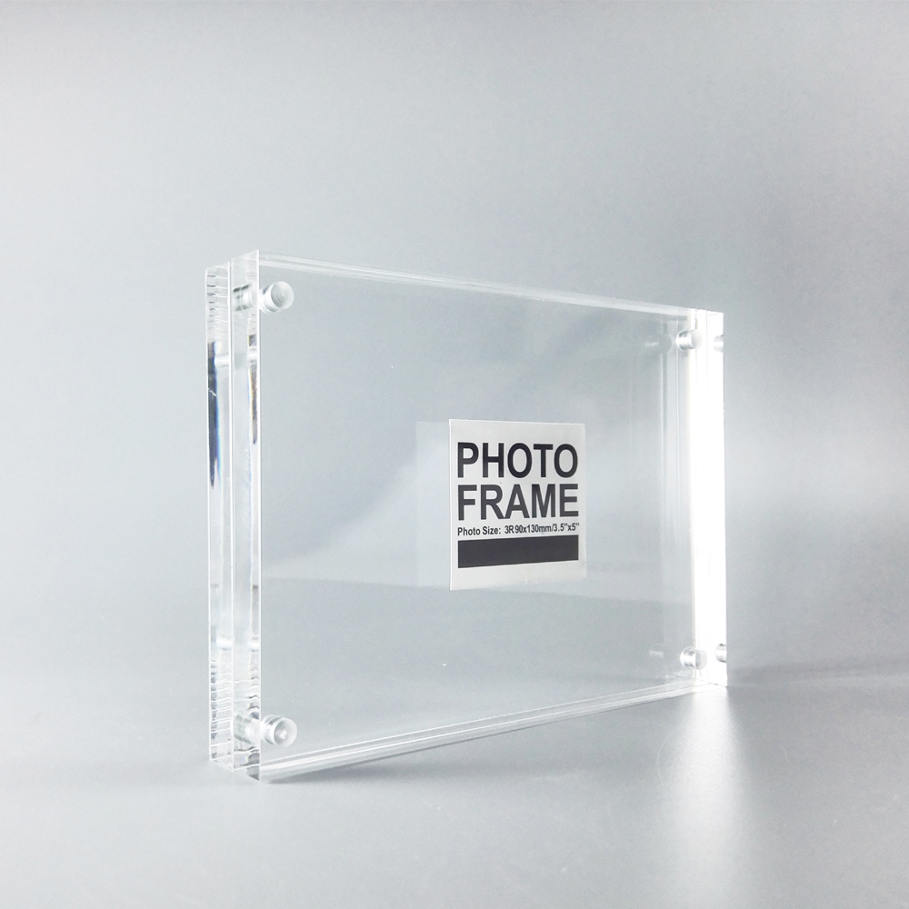pack 10 units free standing clear acrylic perspex magnetic photo frame for promotion