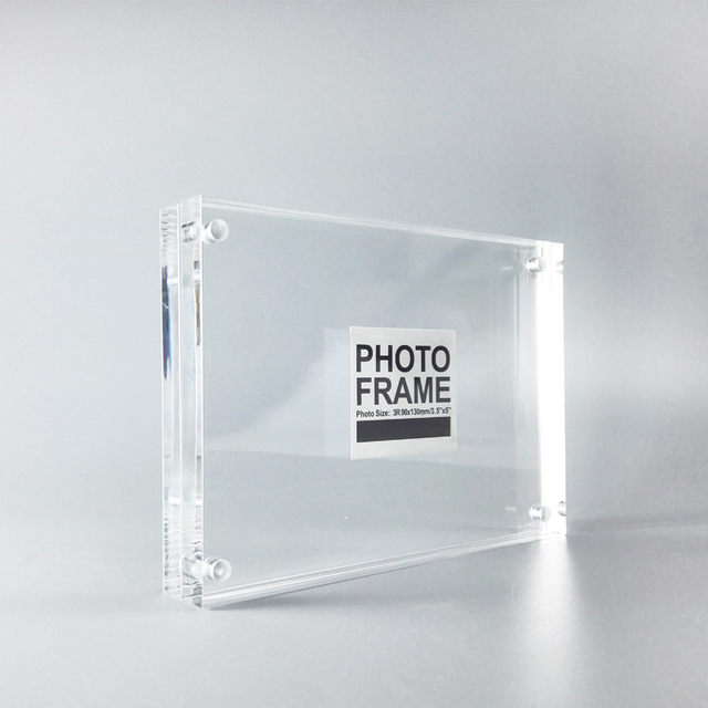 Pack/ 10 Units) Free Standing Clear Acrylic Perspex Magnetic Photo ...