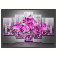 Pink Flower Triptych Diamond Embroidery Painting Rhinestones 3D Picture Cross Stitch Pattern Home Decoration CX736 W9
