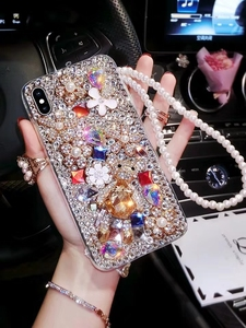 Image 3 - Lüks Bling elmas telefon kılıfı için Huawei onur 7X 7C 7A 8 9 10 Lite 8X Max 8A Pro Rhinestone kristal kapak Fundas Coque