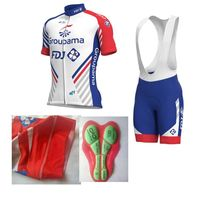 2018 high quality italy MITI sleeve pro team fdj cycling jersey kits mens summer bike cloth MTB Ropa Ciclismo maillot gel pad