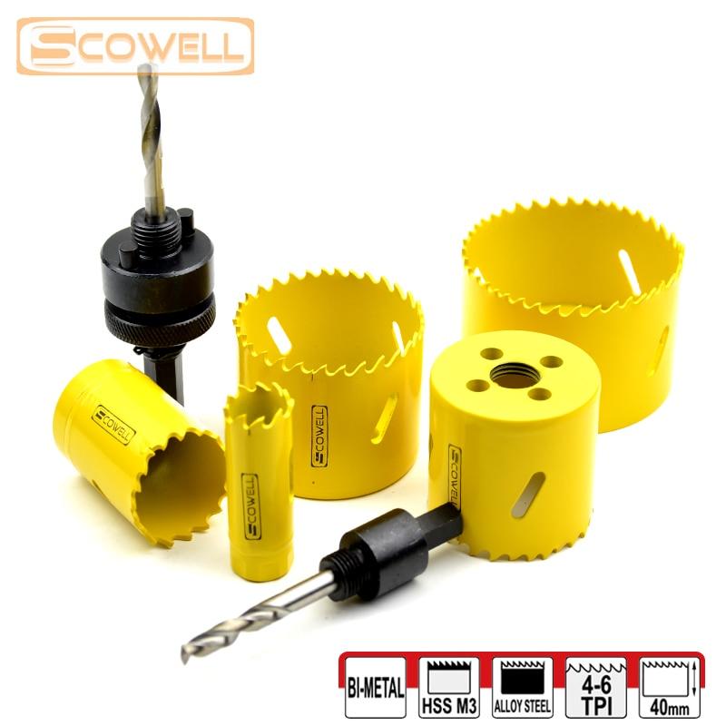HSS Bi-metal Adjustable Holesaw Cutter Wood Cutting drill hole saw 14mm,16mm,19m,20mm,22mm,65mm,68mm,70mm,73mm,76mm,83mm,92