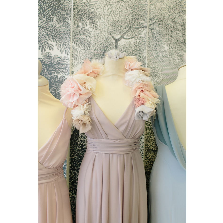 16f9459ef9 US $89.0 |Dusty Rose/Blush/Pink Bridesmaid Dresses Spaghetti Straps V neck  Long Wedding Party Dress Chiffon Maid of Honor Gowns Plus Size-in ...