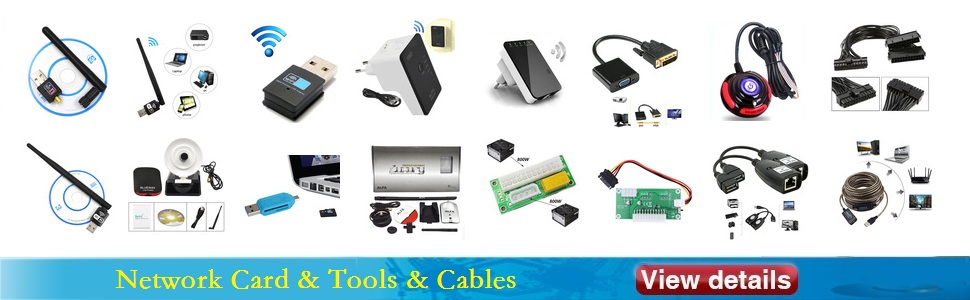Network Card & Tools & Cables