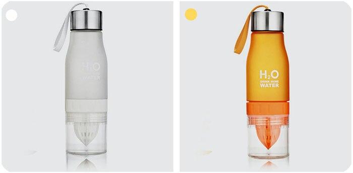 Transhome Creative Fruit Infuser Water Bottle 650ml Portable Plastic Water Bottle For Lemon Juice Sport Drinking Water Bottles