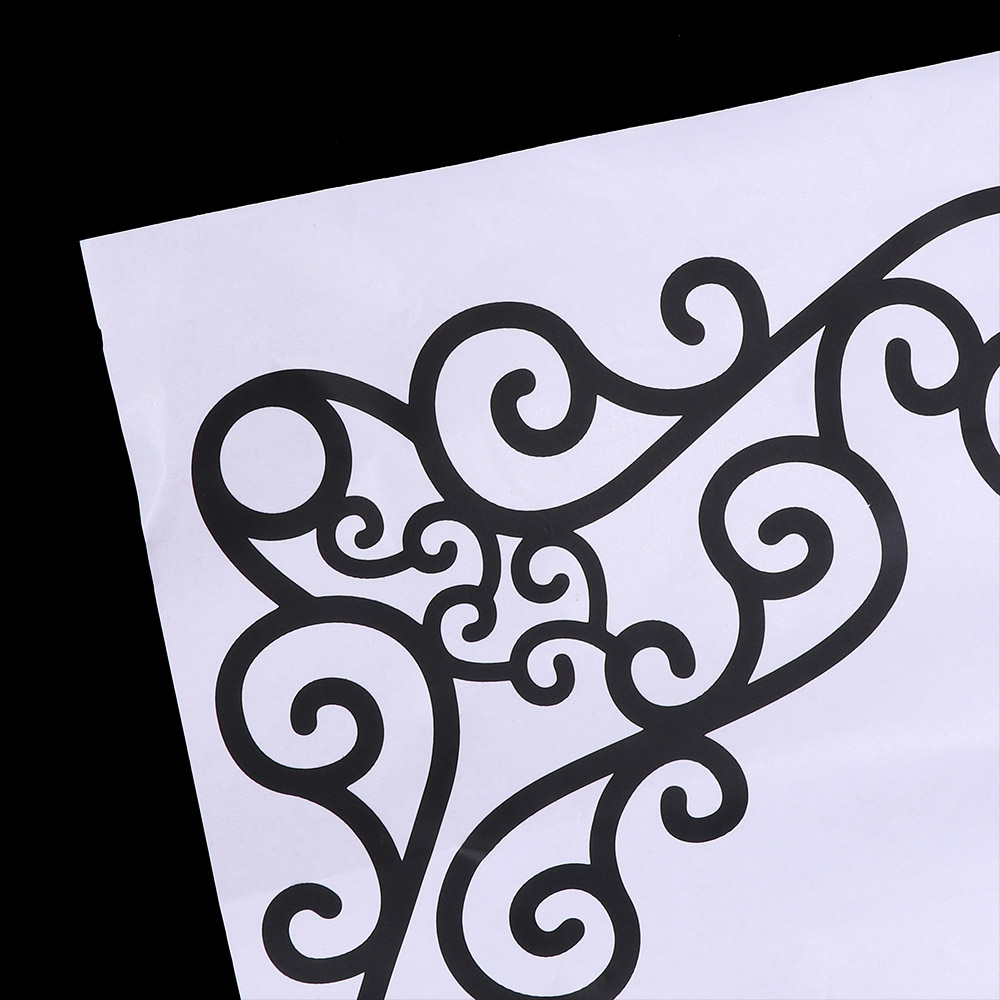 4Pcs DIY Wall Decal Decor Window Bath Room Mirror Art Sticker Removable Paper