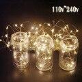 Tira de LED String 10m100Led Decoración Del Banquete de Boda de Vacaciones de Navidad Festival de Alambre de Cobre LED Cadena Luces de Hadas Al Aire Libre Lámparas