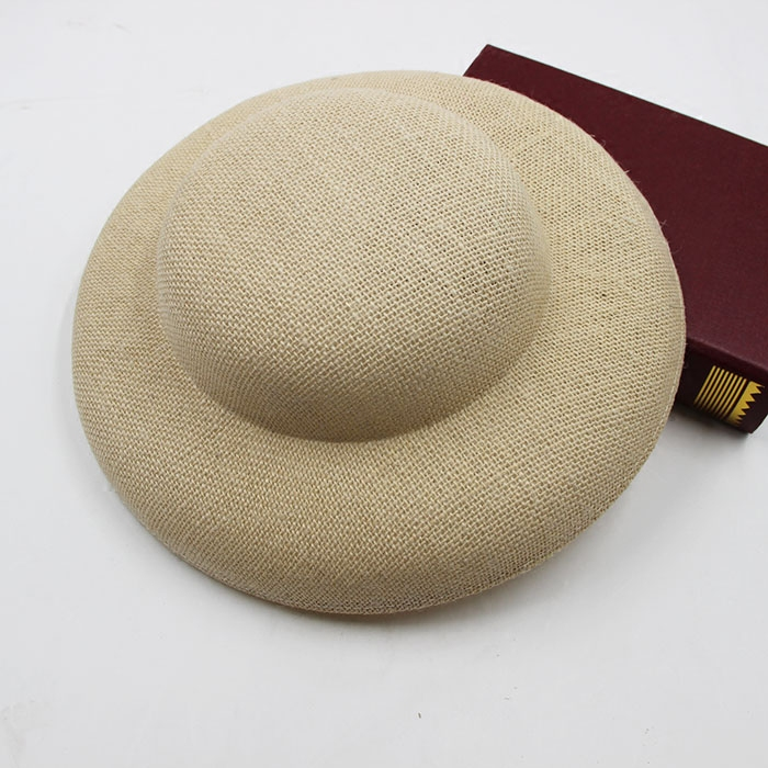 Handmade 30CM Big DIY Hat Base Vintage Linen Wedding Fascinator Hat Base DIY European Ladies Party DIY Headwear Wholesale