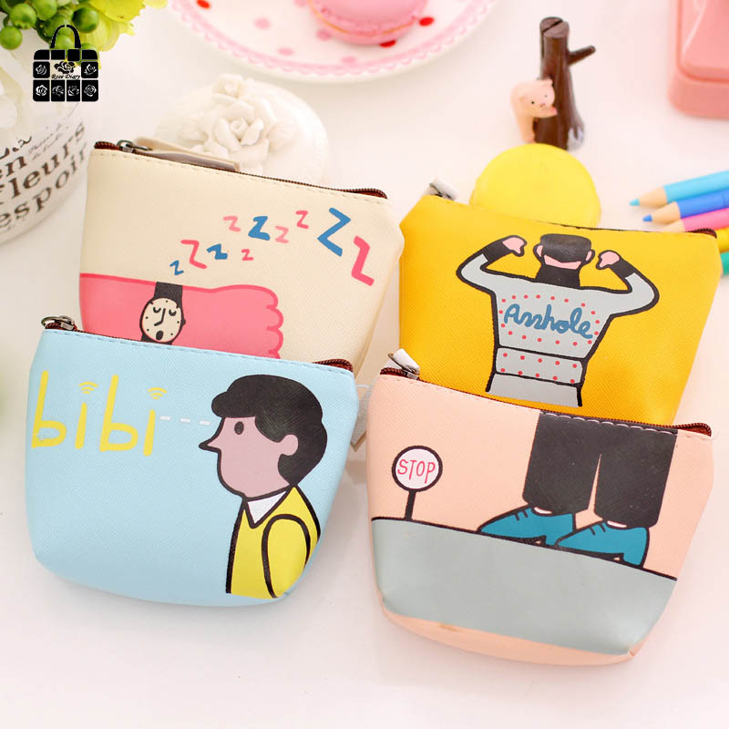 RoseDiary Cute Coin purses, cartoon character PU leather coin purses child girl women change purse,lady zero wallets,coin bag coin purses creative big eyes pu leather coin purses child girl women change purse lady zero wallets coin bag free shipping