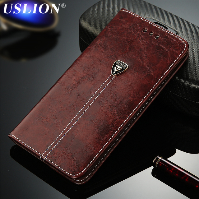 USLION Wallet Case For Samsung Galaxy S6 S6Edge Plus S7 S7Edge Luxury Leather Magnet Card Holder Flip Stand Phone Case Cover
