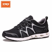 TFO Women Shoes Sneakers Jogging Gray Blue Breathable Reflective Shoelaces High Quality Women S Sport Running