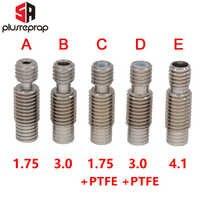 V6 Gola Calore Rompere Bowden PTFE Hotend J-testa M7 * M6 * 22 millimetri per 1.75 millimetri 3 millimetri Filament Stampante Alesaggio 4.1 millimetri 3D In Acciaio Inox