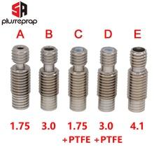 5 PCS/lot Stainless Steel E3D V6 Heat Break Hotend Throat M7*M6*22mm Bore 4.1mm for 1.75 mm / 3.00mm Filament NO Teflon Tube цены