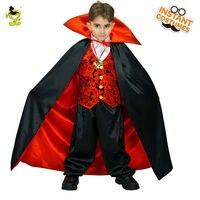 2017 New Vampire Boy Costumes Horror Bloody Fancy Dress Kids Halloween Cosplay Uniform For Children Boys