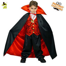 2017 New Vampire Boy Costumes Horror Bloody Fancy Dress Uniform Kids Blood Sucker Child Halloween Cosplay  For Children Boys