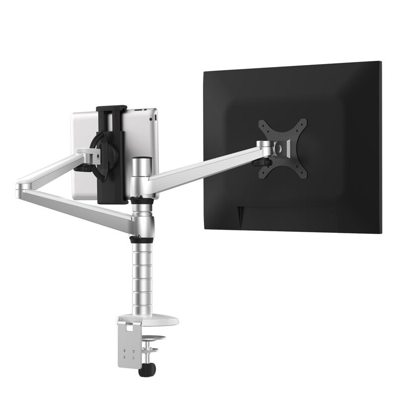 OA 8 Height Adjustable Double Arm Multifunction LCD Monitor+Tablet PC Stand  Aluminum TV Mount Rotating Holder For IPad Mini Air In TV Mount From  Consumer ...