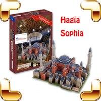 Nuovo Anno del Regalo Hagia Sophia Chiesa 3D Puzzle di Costruzione della Carta scatola Di Puzzle Gioco Di Puzzle FAI DA TE Divertente Per Gli Appassionati di Raccolta Scrable giocattolo