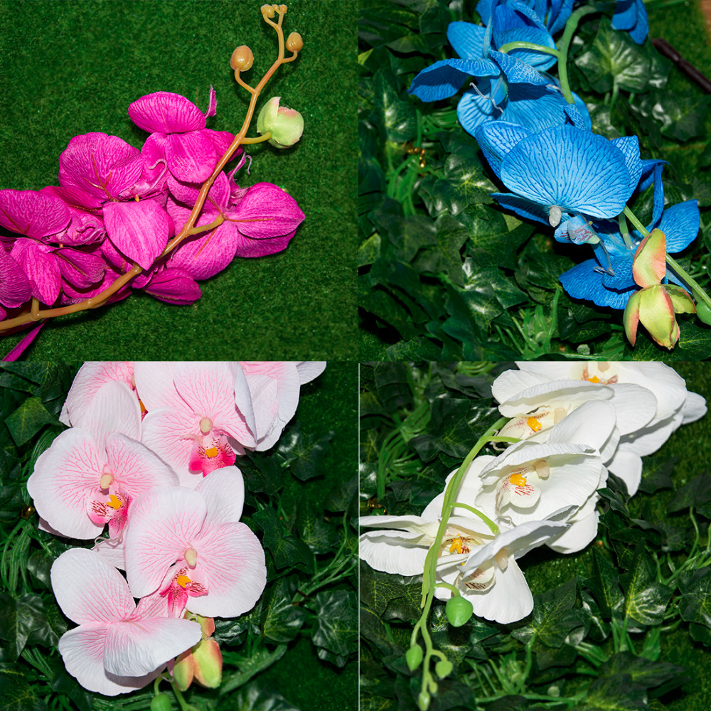 Online buy wholesale orchid silk flower arrangements from china lovely 8pcs artificial fake flower butterfly orchid silk flower home wedding party decor phalaenopsis flower arrangement dhlflorist Gallery