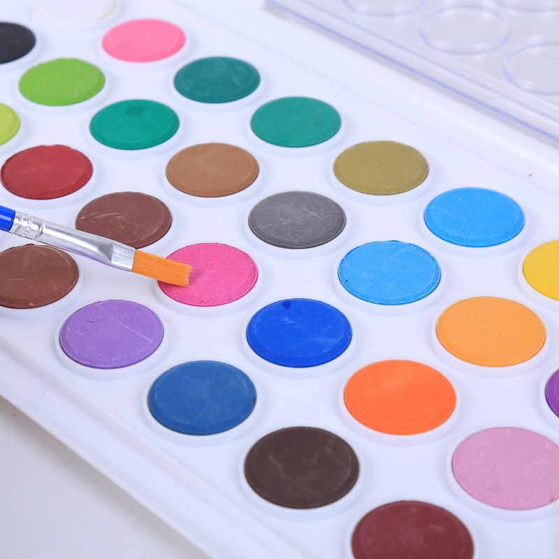 36 色固体ガッシュペイントと色でペイント画材ケース絵画子供のための道具画材