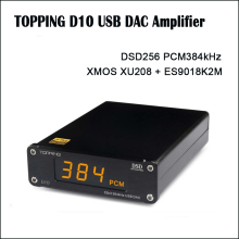 цена на TOPPING D10 DAC Audio Amplifier ES9018KAM USB DAC Amp DSD Amplifiers xmos xu208 Optical Spdif Coaxial input
