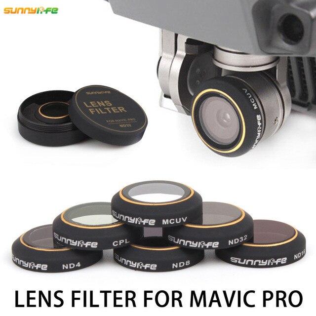Sunnylife font b Mavic b font High Definition Ultra thin Filter Lens ND4 ND8 CPL MCUV