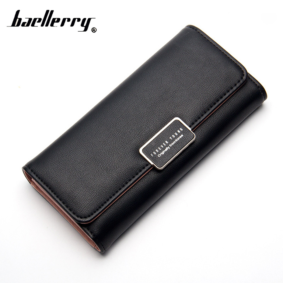 Women Wallet Phone Cover On Bank Business ID Credit Card Zipper Hasp Solid Color High Quality Case Purse For Card Porte Carte