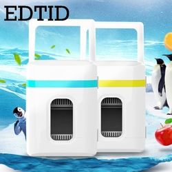 EDTID uso del coche de Casa refrigerador de viaje Auto refrigerador vehículos calentador de alimentos congelador calentador de refrigeración caja de calefacción nevera 10L 12V 220V UE
