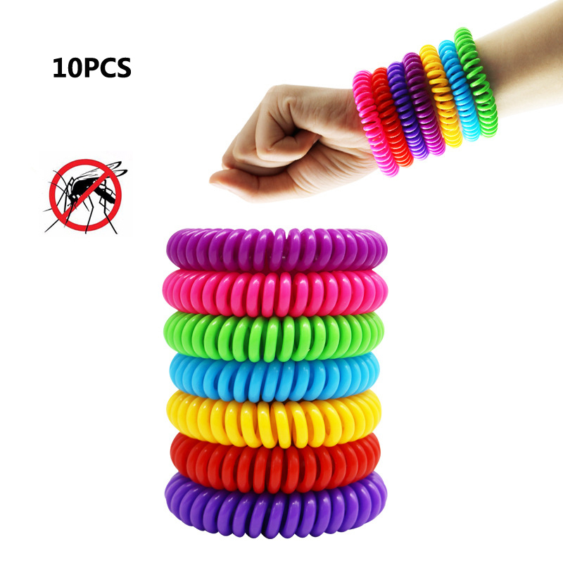 10PC/lot Mosquito Repellent Bracelets Pest Control Bracelets Pest Control Anti-Mosquito Bracelet for Adults Kids Outdoor Travel 2 5w electro magnetic pest mosquito repellent white ac 90 250v