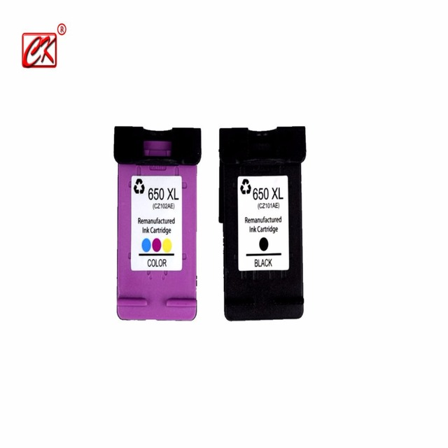 2PK compatible For HP650XL For HP650 XL For HP650  Ink Cartridge FOR HP Deskjet 1015 1515 2515 2545 2645 3515 4645