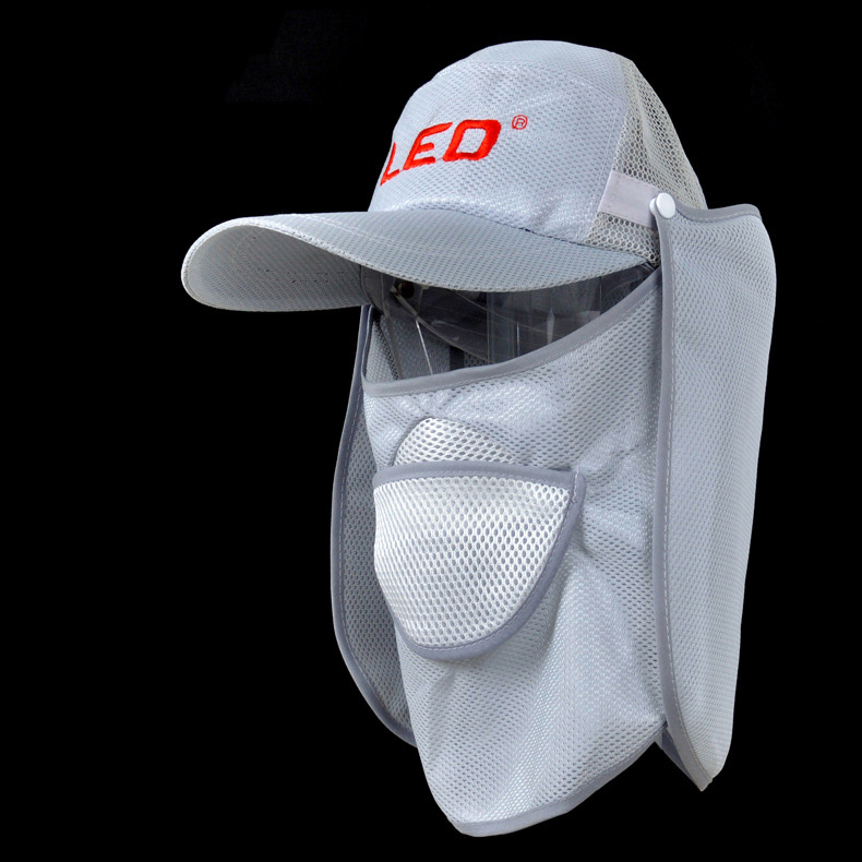 Summer White Outdoor Sport Hiking Camping Cycling Hat Sunhat Uv Protection Neck Cover Face Cap Anti-mosquito