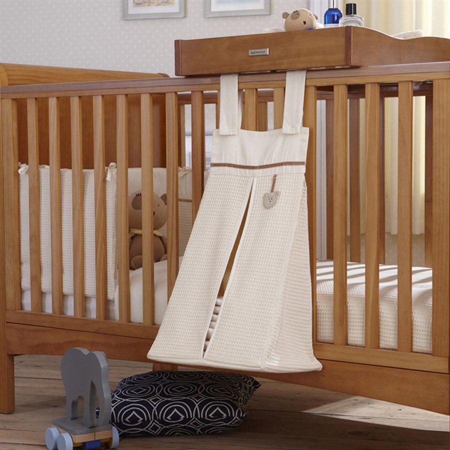 Muslin Nursery Organizer Diaper Stacker Baby Crib Playard Hanging ...