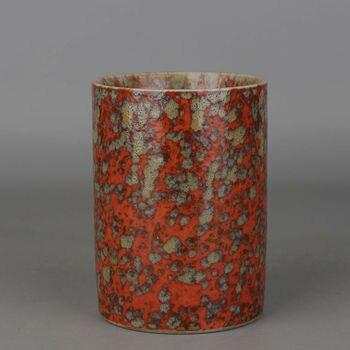 Китайский антикварный фарфоровый цветок Цин Qianlong фарфоровая ручка контейнерный горшок держатель для ручек