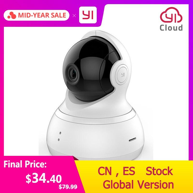 YI dôme caméra panoramique/inclinaison/Zoom système de Surveillance de sécurité IP sans fil HD 720 p Vision nocturne (Version US/EU) YI Cloud disponible