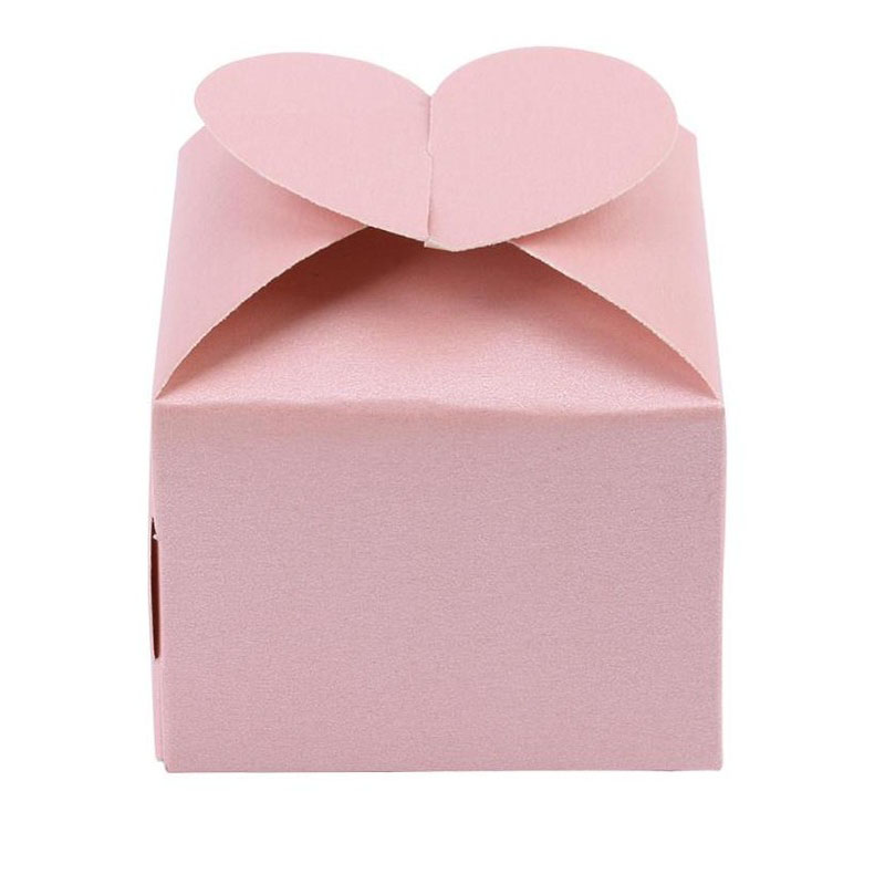 50pcs/lot Pearl Paper Gift Boxes Packaging Wedding Favour Candy Box Eo-friendly Baptism Bonbonniere Box