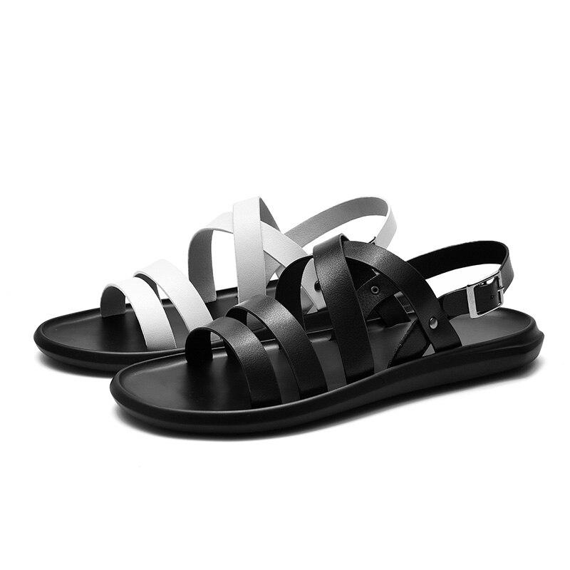 Sandals Outdoor Scarpe 2018 stile Beach Hollow Retro Fresh Out Summer romano Surom Uomo nere gladiatore bianche 41Stcqqv