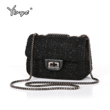 YBYT brand 2016 new fashion joker wool plaid flap hotsale ladies winter evening bags small shoulder messenger crossbody bags