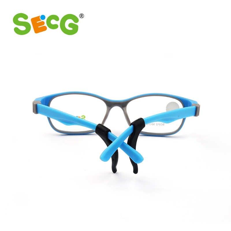 SECG TR90 Das Crianças Óculos de Armação Óptica Óculos para Crianças Crianças Óculos De Dioptria Óculos de Proteção Flexível de Borracha de Silicone