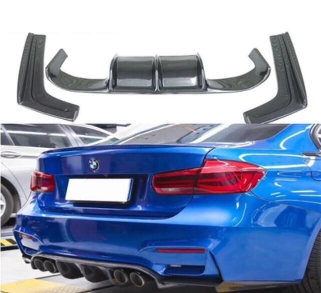 3 шт./компл. для автомобиля углеродного волокна задний бампер спойлер губы, авто автомобиль задний диффузор для BMW F30 F35 M3 316 330 335 325 328 2012 2019