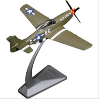 1/72 scale US Alloy P 51D Mustang fighter aircraft military airplane models adult children toys for display show collections