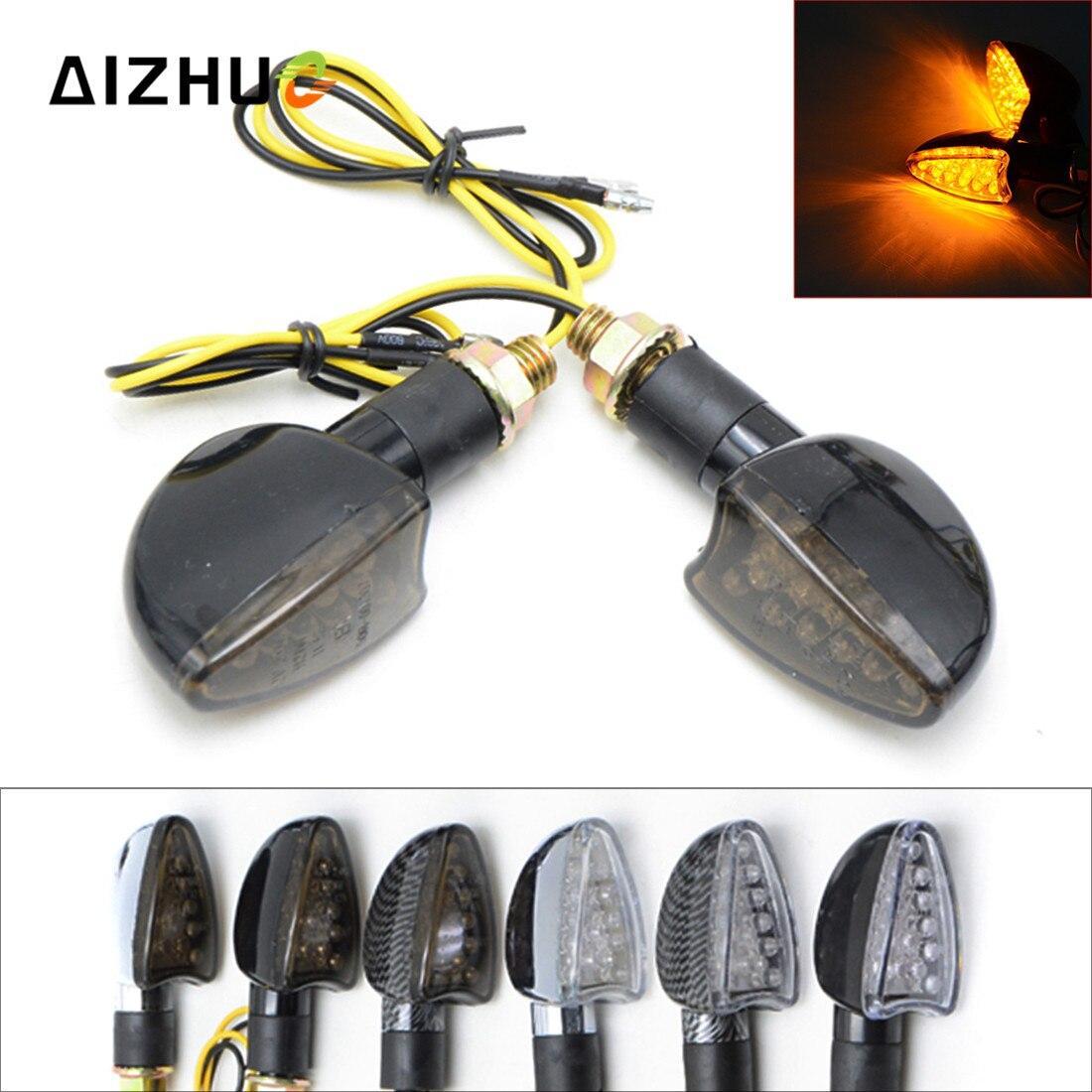 Moto Accessoires LED Clignotant Clignotants POUR bmw k1200r f650 kawasaki zx9r zx7r zx12r suzuki intruder 800 cb500x