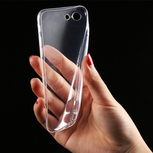 1 pcs Transparent Clear TPU Case for iPhone 7 Plus 6 6s 5 5s SE Mobile Phone Cases Soft Silica Gel Silicone Cover