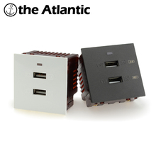 DIY Parts Double USB Jack Wall Power Socket Outlet Wall Power Socket Function Key For Module only Wall USB Usb Wall Socket