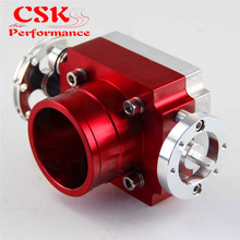 Colector de admisión de aluminio Universal, 60mm, VQ35TPS, cuerpo de acelerador, Billet plata/azul/rojo