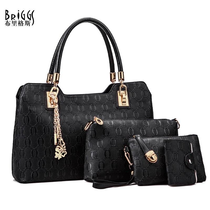 BRIGGS 2016 Fashion Composite Bags Women PU Leather ...