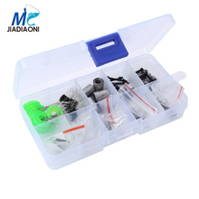 JIADIAONI New 100Pcs/Lot Carbon Steel Fishhooks Durable Pesca Jig Head Fishing Hooks with Hole Carp Fishing Tackle Box