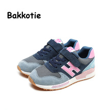 Bakkotie 2017 Fashion Leather Baby Spring Autumn Boy Casual For Children Sport Shoe Breathable kid Brand Walking Sneaker Mesh