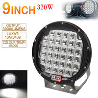 9 Inch 320W Round XPL LED Car SUV/UTV Offroad Work Driving Light Spotlight Lamp