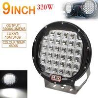 LED Car Work Light Combo 9 Inch 320W Round XPL LED Car SUV/UTV Offroad Light Waterproof Work Driving Light Spotlight Lamp